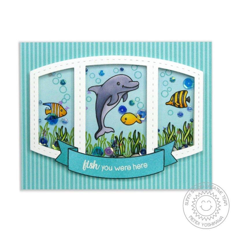 Sunny Studio Stamps Oceans of Joy Card by Mendi Yoshikawa