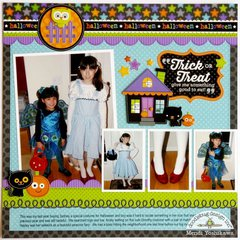 Doodlebug October 31st Halloween Layout by Mendi Yoshikawa
