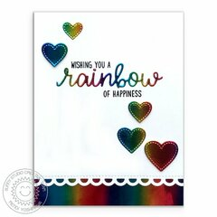 Sunny Studio Stamps Over The Rainbow Card by Mendi Yoshikawa