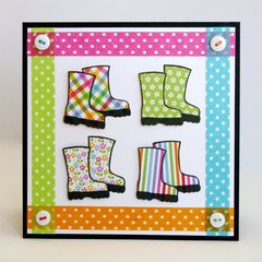 Paper Smooches Green Thumb Card by Mendi Yoshikawa