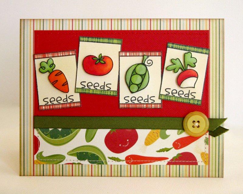 Paper Smooches Green Thumb Card by Mendi Yoshikawa