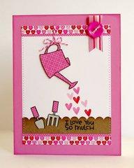 Doodlebug Sweethearts Valentine's Card by Mendi Yoshikawa