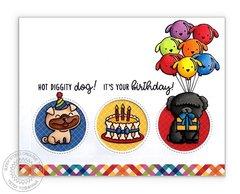 Sunny Studio Stamps Party Pups Card by Mendi Yoshikawa