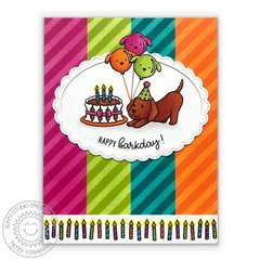 Sunny Studio Stamps Party Pups Card by Mendi Yoshikawa