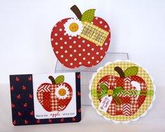Pebbles Inc. Apple Themed Cards By Mendi Yoshikawa