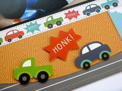 Pebbles Love You More Car Layout by Mendi Yoshikawa