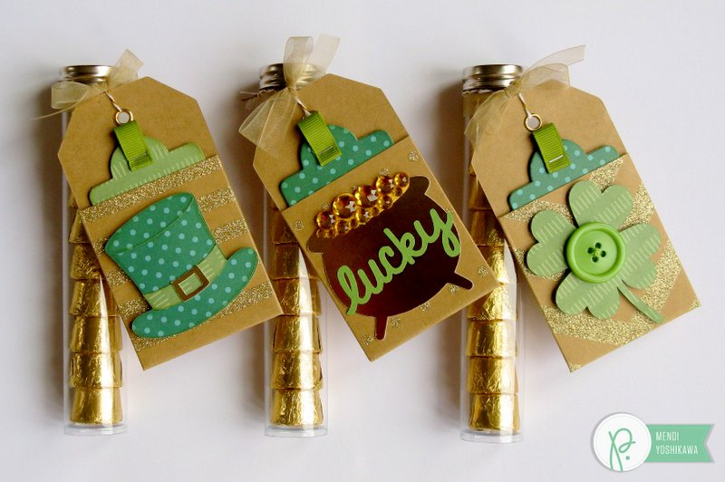 Pebbles Inc. St. Patrick's Day Tags by Mendi Yoshikawa