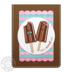 Sunny Studio Perfect Popsicles Card by Mendi Yoshikawa