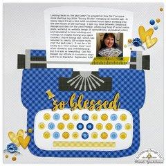 Doodlebug Petite Print Typewriter Layout by Mendi Yoshikawa
