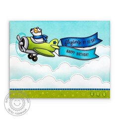 Sunny Studio Stamps Plane Awesome Card by Mendi Yoshikawa