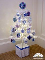 Doodlebug Polar Pals Winter Tree & Ornaments by Mendi Yoshikawa