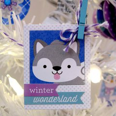 Doodlebug Polar Pals Winter Tree & Ornaments by Mendi Yoshikawa