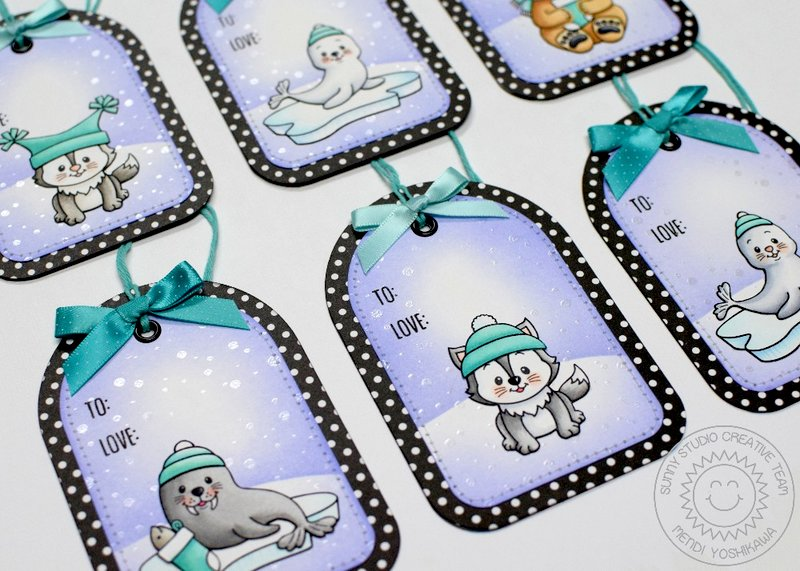 Sunny Studio Stamps Polar Playmates Holiday Gift Tags