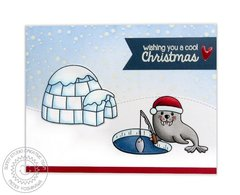 Sunny Studio Polar Playmates Card by Mendi Yoshikawa
