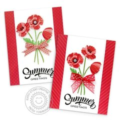 Sunny Studio Poppy Fields Cards by Mendi Yoshikawa