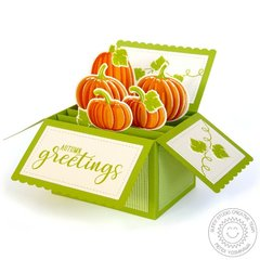 Sunny Studio Pretty Pumpkins Box Card by Mendi Yoshikawa