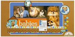 Doodlebug Puppy Love 2-page Layout by Mendi Yoshikawa