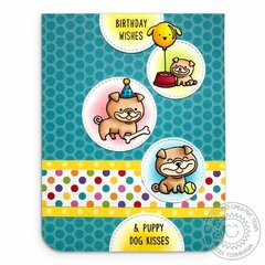 Sunny Studio Stamps Puppy Dog Card by Mendi Yoshikawa