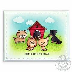Sunny Studio Stamps Puppy Dog Card by Mendi Yoshikawa