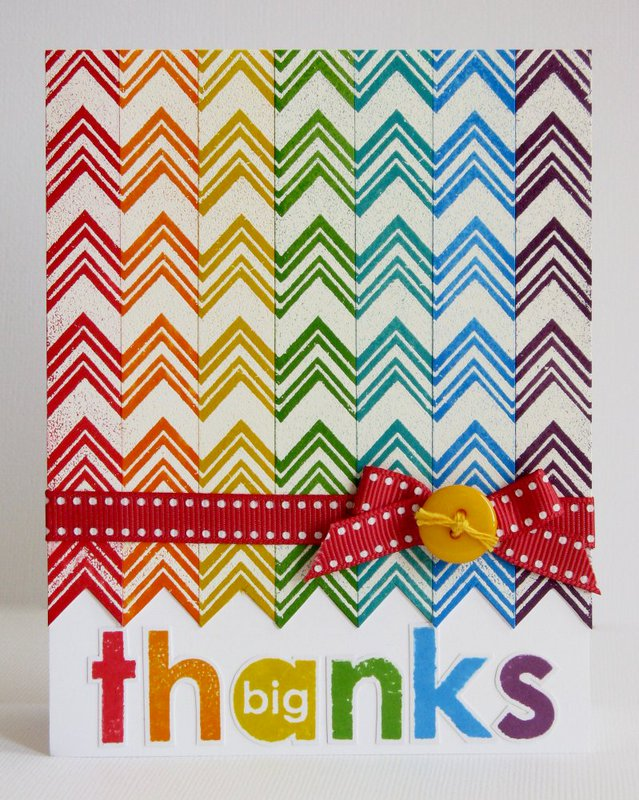Technique Tuesday Chevron Thank You by Mendi Yoshikawa