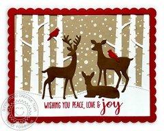 Sunny Studio Stamps Rustic Winter Christmas Card by Mendi Yoshikawa