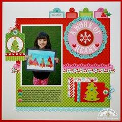 A Doodlebug Santa Express Layout by Mendi Yoshikawa