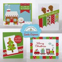 Doodlebug Santa Express Christmas Cards by Mendi Yoshikawa