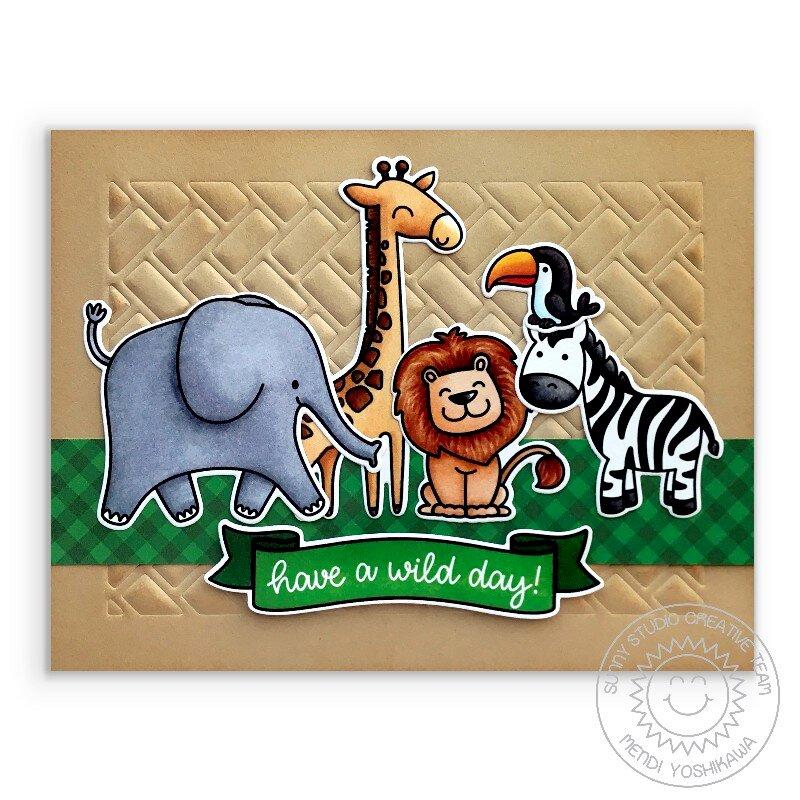 Sunny Studio Stamps Savanna Safari Card by Mendi Yoshikawa
