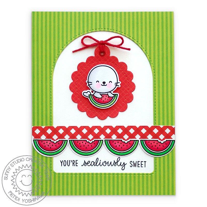 Sunny Studio Sealiously Sweet Card by Mendi Yoshikawa