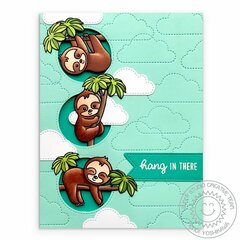 Sunny Studio Stamps Silly Sloths Card by Mendi Yoshikawa