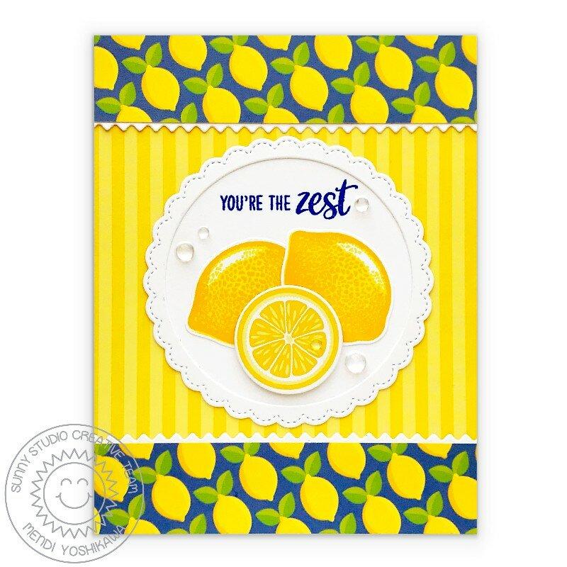 Sunny Studio Slice of Summer Lemon Card by Mendi Yoshikawa