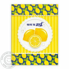 Sunny Studio Slice of Summer Lemon Card by Mendi Yoshikawa