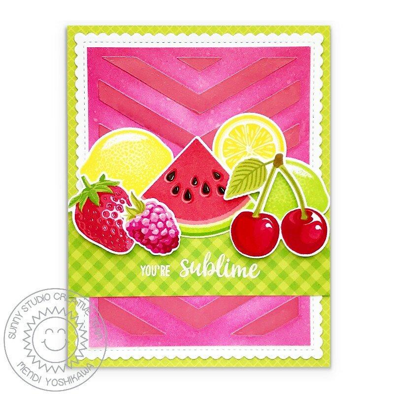 Sunny Studio Slice of Summer Fruit Card by Mendi Yoshikawa