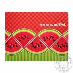 Sunny Studio Slice of Summer Watermelon Card by Mendi Yoshikawa