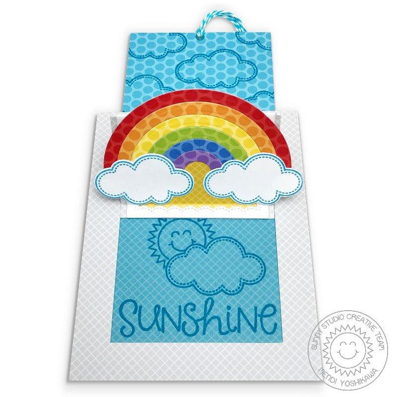 Sunny Studio Create Your Own Sunshine Rainbow Card by Mendi Yoshikawa