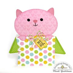Doodlebug Kitten Smitten Shaped Cards by Mendi Yoshikawa