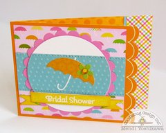 A Doodlebug Springtime Shower Card by Mendi Yoshikawa