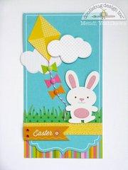 A Doodlebug Springtime Bunny Card by Mendi Yoshikawa
