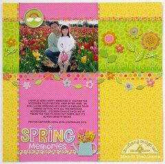 Doodlebug Springtime Tulip Fields layout by Mendi Yoshikawa