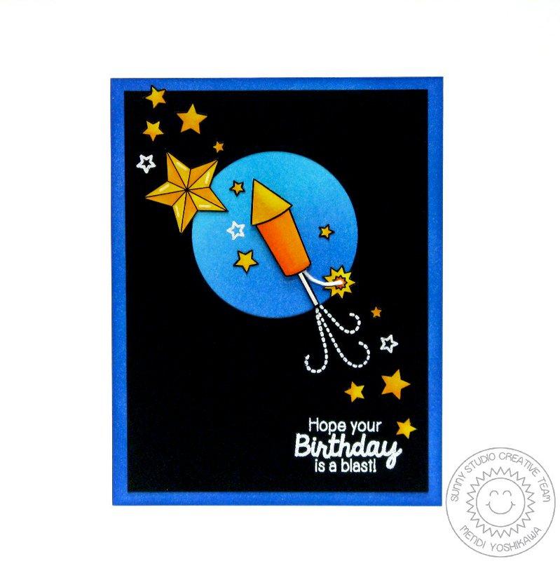 Sunny Studio Stars & Stripes Card by Mendi Yoshikawa