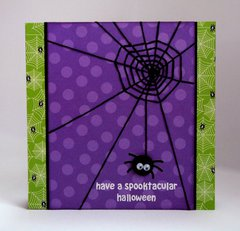 Doodlebug Halloween Spider Web card by Mendi Yoshikawa