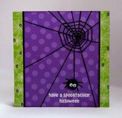 Doodlebug Halloween Spider Web card by Mendi Yoshikawa