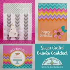 Doodlebug Sugar Coated Chevron Cards by Mendi Yoshikawa