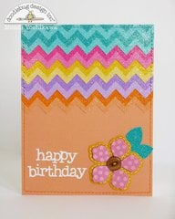 Doodlebug Sugar Coated Chevron Cards by Mendi Yoshikawa