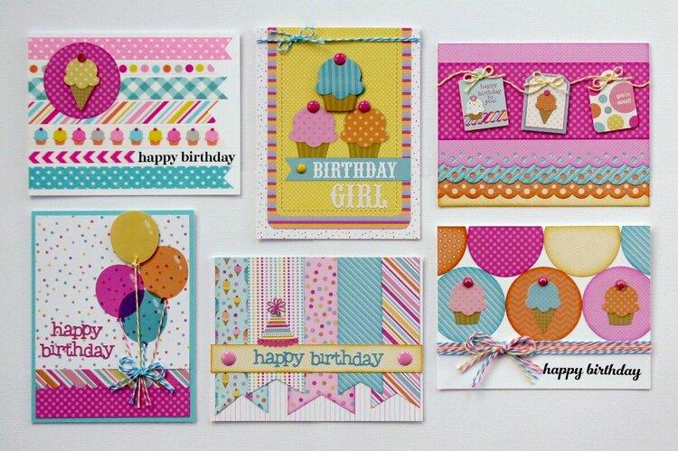 Doodlebug Sugar Shoppe Birthday Cards-Challenge
