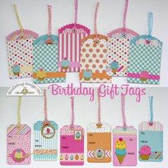 Doodlebug Sugar Shoppe Gift Tags by Mendi Yoshikawa