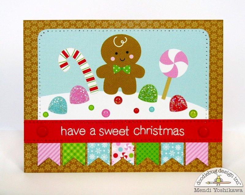 Doodlebug Sugarplums Christmas Card Set by Mendi Yoshikawa