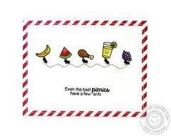 Sunny Studio Summer Picnic Ants Card by Mendi Yoshikawa