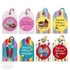 Sunny Studio Summer Sweets Birthday Tags by Mendi Yoshikawa