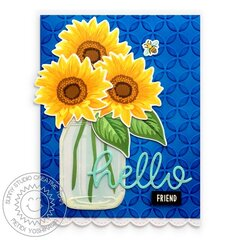 Sunny Studio Stamps Sunflower Fields Card by Mendi Yoshikawa